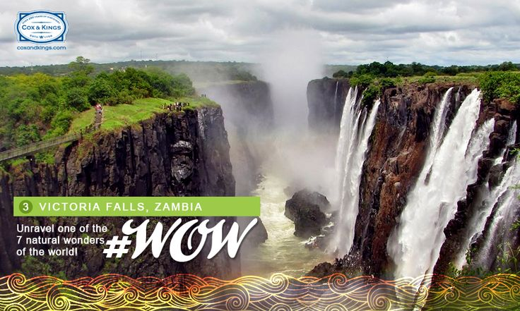 Did you know the spray from these mighty falls make the Zambezi rain forest the only place that receives rainfall 24 hours a day? #WorldOfWaterfalls #travel #CnK