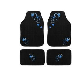 @Overstock - Add style and functionality to your car with this embroidered floor mat set. These mats are constructed out of automotive carpet with a rubber bottom for no-slip convenience. This set includes four floor mats with matching blue heart designs.http://www.overstock.com/Home-Garden/Automotive-4-piece-Blue-Hearts-Embroidered-Floor-Mat-Set/5921463/product.html?CID=214117 $29.49