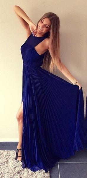 blue formal