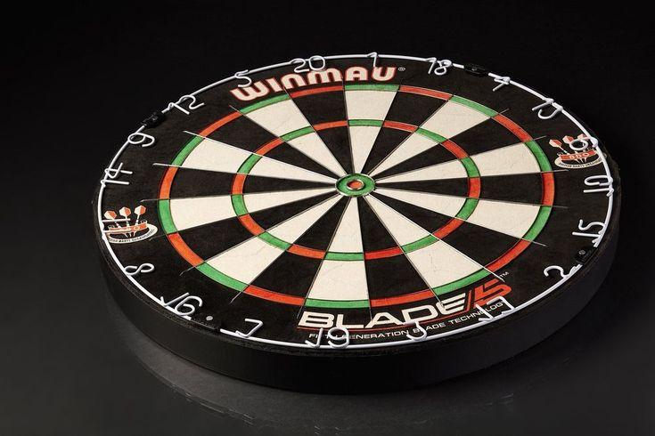 Professional Bristle Dartboard Black White Red Dart Boards Indoor Playroom Game #ProfessionalBristleDartboard