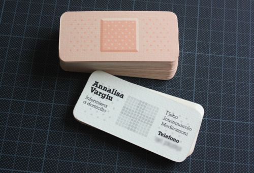 Business card designed for a professional nurse.