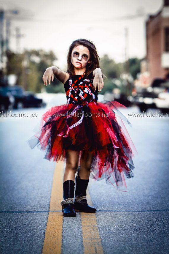 Zombie Costume Zombie Tutu Costume Girl's by LittleBloomsSpokane