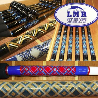 Custom writing on fishing rods