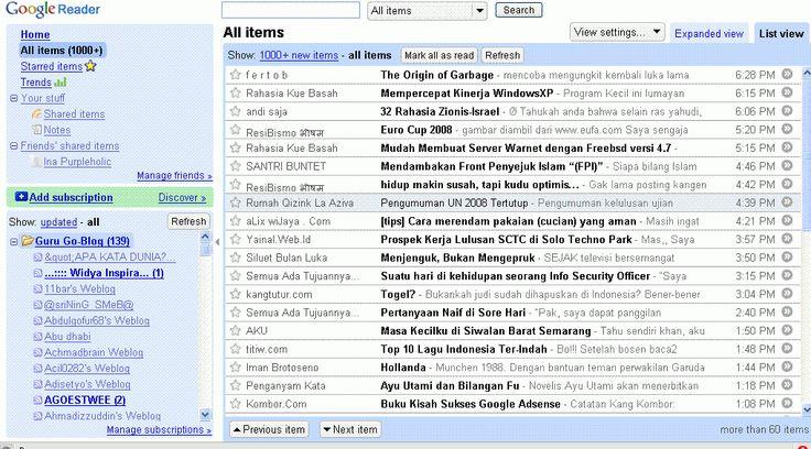 Memanfaatkan Account Gmail untuk Berlangganan Postingan: Catatan Sawali Tuhusetya