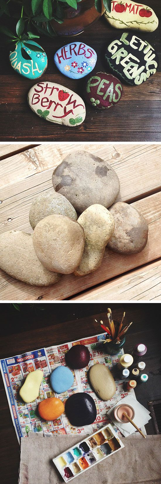 A great summertime project for my son. Collect rocks from the river then paint how he wants!