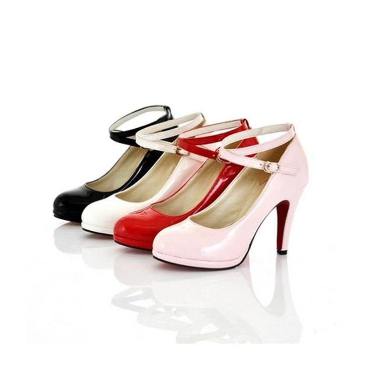 women's shoes 30 31 32 33 elegant hasp high-heels lady 's shoes plus size shoes 40 41 42 43 fashion black pink white pink pumps ** AliExpress Affiliate's Pin. Detailed information can be found on AliExpress website by clicking on the image