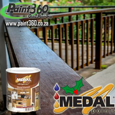Our Medal Wood Varnish Range.Holidays are upon us and its time to get your balcony's spruced up for the man in the red suit ! http://www.paint360.co.za/the-paint-shop/medal-quality-range/wood/wood-varnish