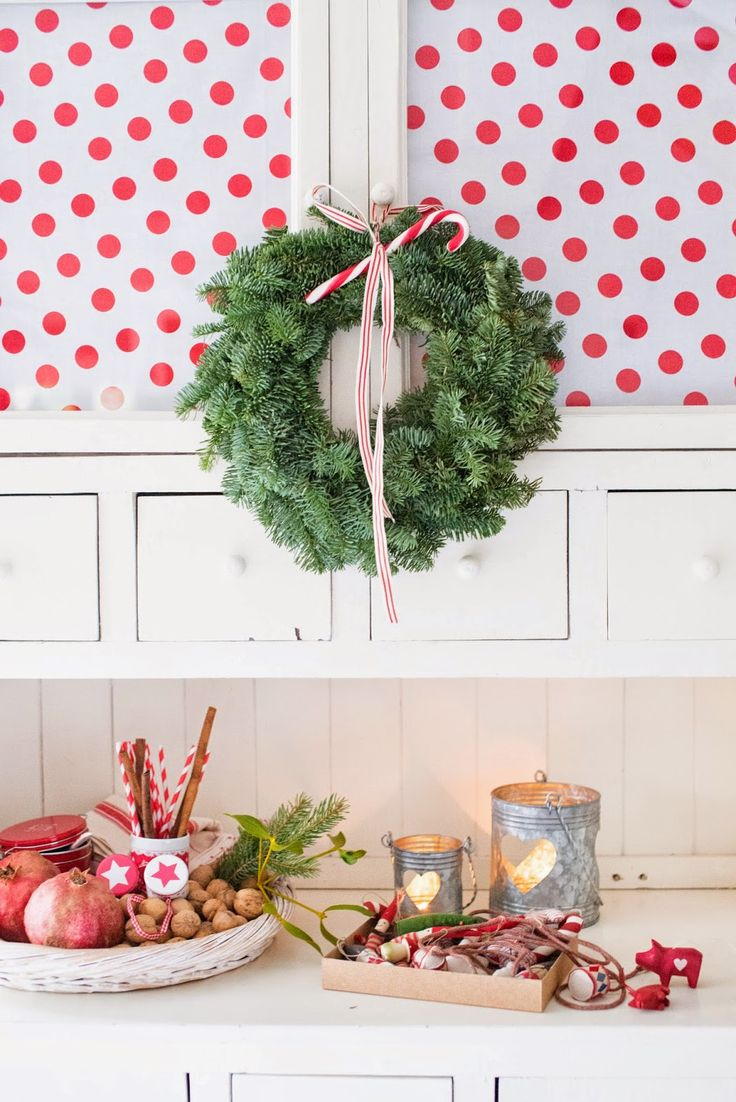 Minty House, Christmas time, Xmas, red, polka dots, Green Gate, Maileg, Christmas decoracion