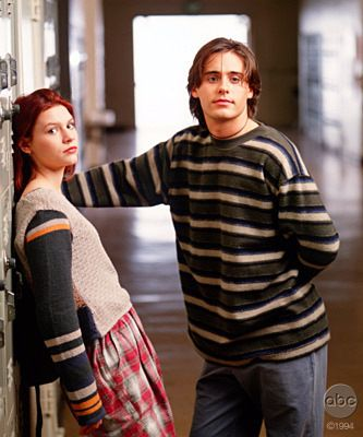 "Claire Danes as Angela Chase and Jared Leto as Jordan Catalano in ""My So-Called Life"" (TV Series)(1994)"