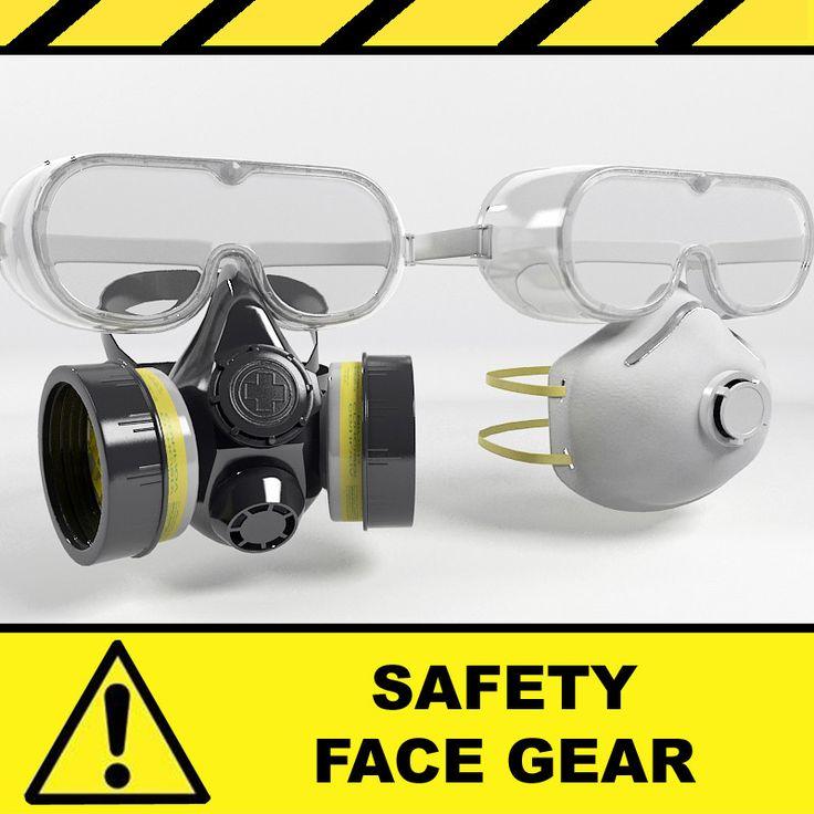 3D Model Safety Mask - 3D Model