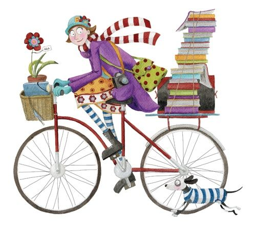 Library-bike (illustrations by Mónica Carretero)
