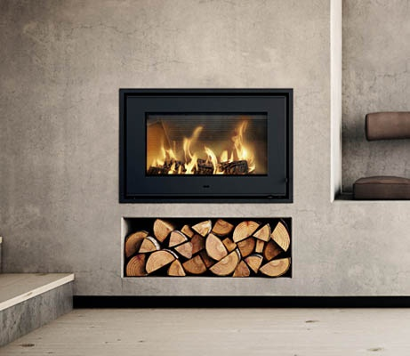 Rais 700 inset stove home pinterest inset stoves Contemporary wood burning fireplace inserts