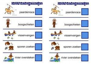 Kaart voor indianenspelletjes kleuters, kleuteridee.nl