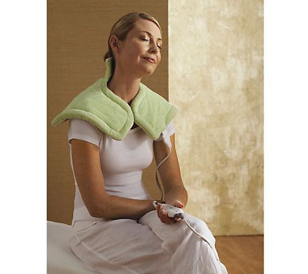 Sunbeam Renue Relieving Heat Therapy Pad for Neck and Shoulders. Seriously, this is the best heating pad ever.
