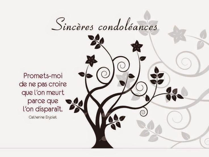 Exemple message  condoléances