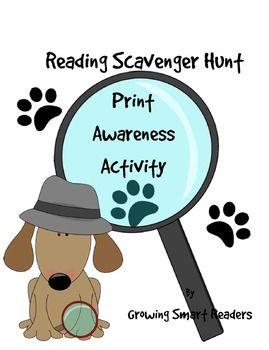 Reading Scavenger Hunt: A Print Awareness Activity {FREE}