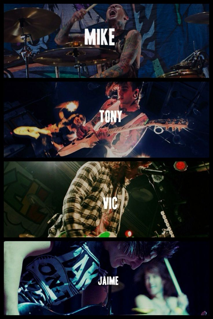 Pierce the Veil- Tony Perry, Jaime Preciado, Mike Fuentes, and the awesome Vic Fuentes :)