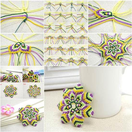 How to DIY Macrame Knotted Flower Coaster | iCreativeIdeas.com Like Us on Facebook ==> https://www.facebook.com/icreativeideas