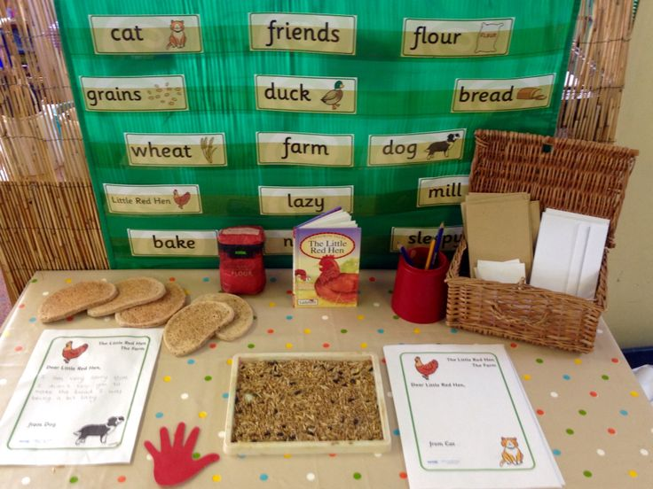 Little red hen - writing area