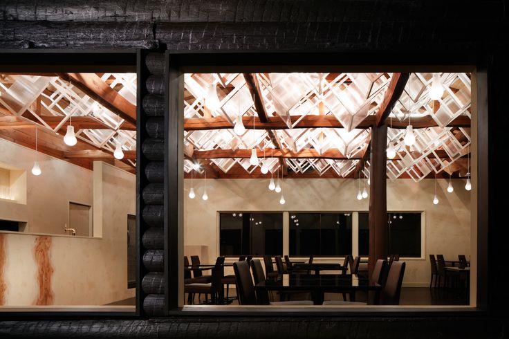 Dream Dairy Farm Restaurant –Forest of Light and Lattice–  /   http://www.moriyukiochiai.com/architecture/farm_restaurant/    #Restaurant
