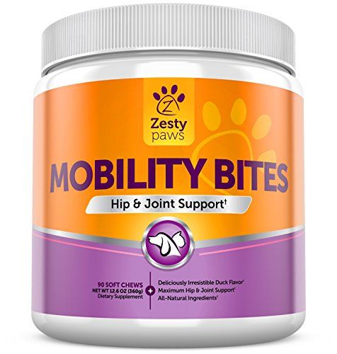 awesome Glucosamine HCL + Chondroitin Sulfate & MSM - Hip & Joint Treats for Dogs & Cats with Arthritis Pain - Chewable Mobility Bites With All Natural Immune & Cardiovascular Support for Pets - 90 Soft Chews