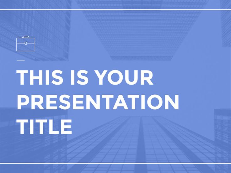 This free presentation template has a clean design for professional and business topics. Customize it with a background color that matches your brand.