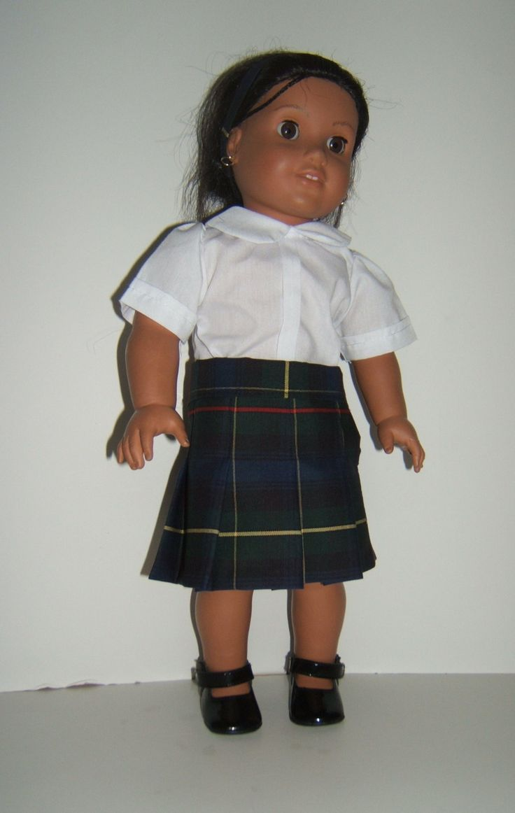 Pleated Plaid 55 School Uniform Skirt by SimoneFranklin on Etsy, $23.00