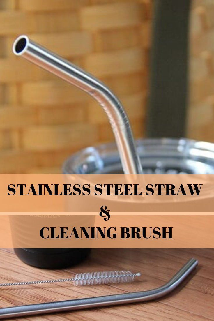 Stainless Steel Reusable Straws,Straw Cleaning Brush, Eco