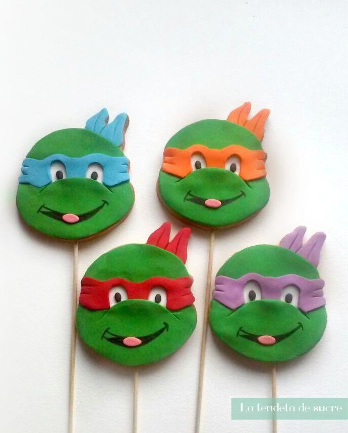 Galletas de las Tortugas Ninjas 10-12cm