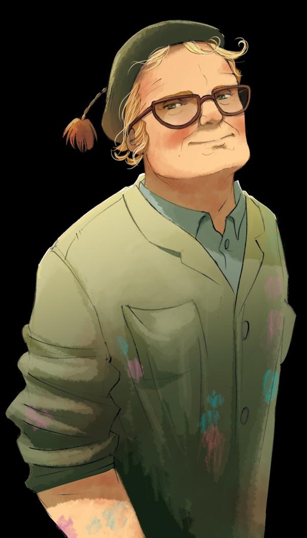 """Fairy Oak-Bernie Pollimon: The Painter. Bernie is Flox's father, the one from whom Flox has inherited her love of colours, especially those of nature, and who has always encouraged her to express her own creativity and imagination. No livro """"Fairy Oak O segredo das gémeas"""", o 1º da série da autoria de Elesabetta Gnone."""
