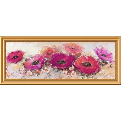 Global Gallery 'Fiori di Maggio' by Luigi Florio Framed Painting Print on Canvas