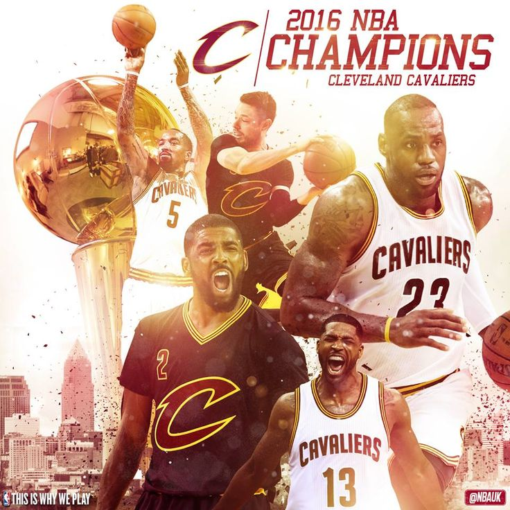 Cleveland Cavaliers wins the 2016 NBA Championship. (93-89) #NBAFinals Photo Credit: NBA