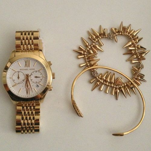Michael Kors Gold Watch / Stella Dot = perfect match
