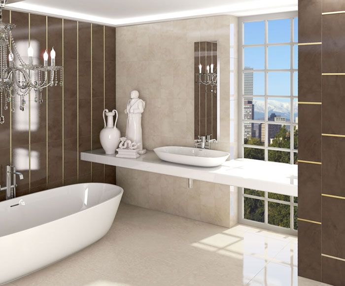 classic Bathroom   ARCANA Tiles   Mabe series   wall tiles   revestimiento   baño de estilo clásico   lujoso