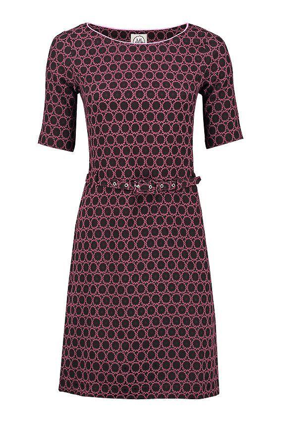 LE PEP kjole SUE - Aubergine mønster