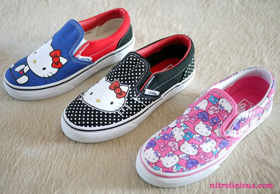 Hello Kitty x VANS Spring/Summer 2012 Collection.  http://www.nitrolicious.com/blog/2012/05/11/hello-kitty-x-vans-spring-summer-2012-collection/#