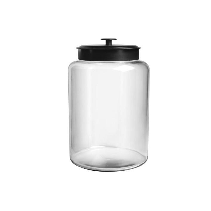 Anchor Hocking Montana Jar W Black Lid 2 5 Gal Pantry