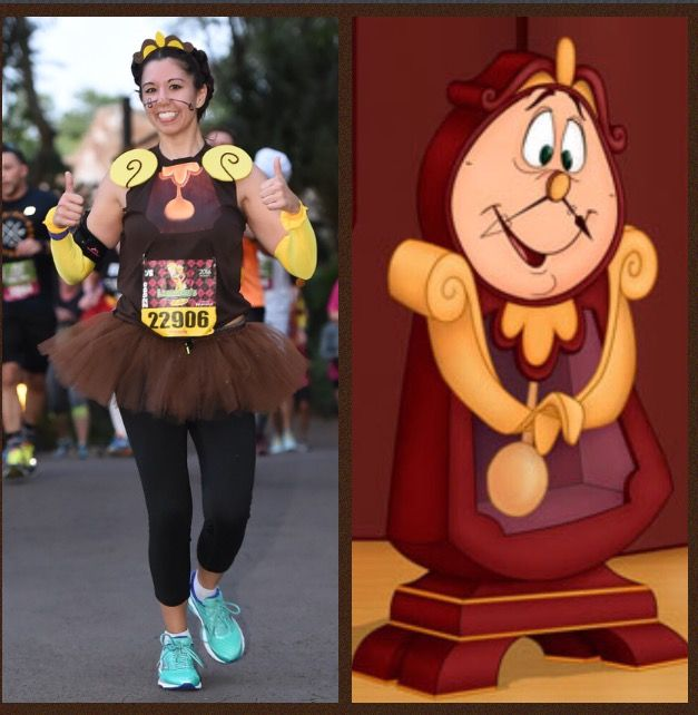 Race costume - Cogsworth from Beauty and the Beast