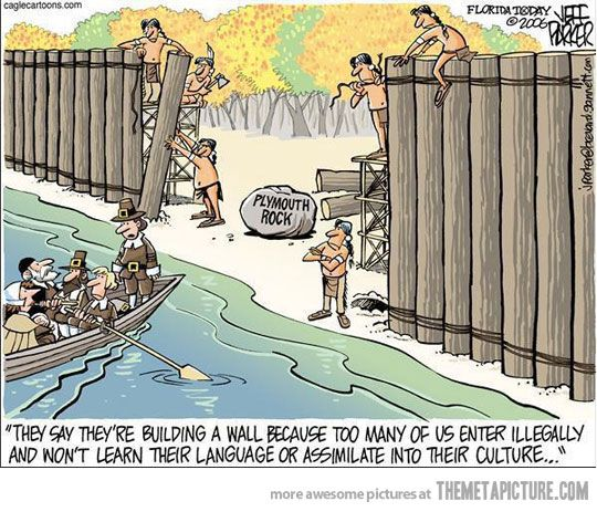Humor in the midst of immigration debates.