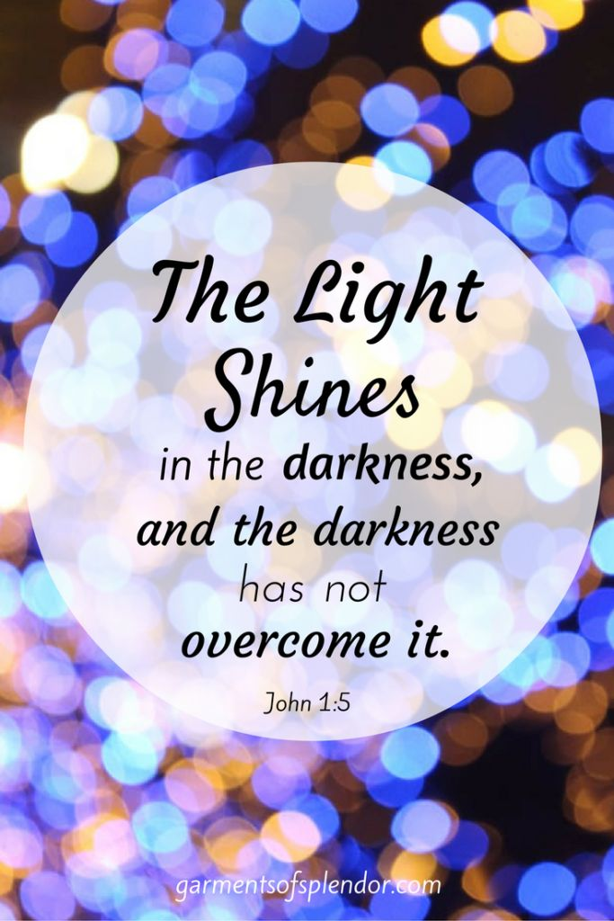 Discover the Light of the world and how His marvelous splendor shines brightly in your life!