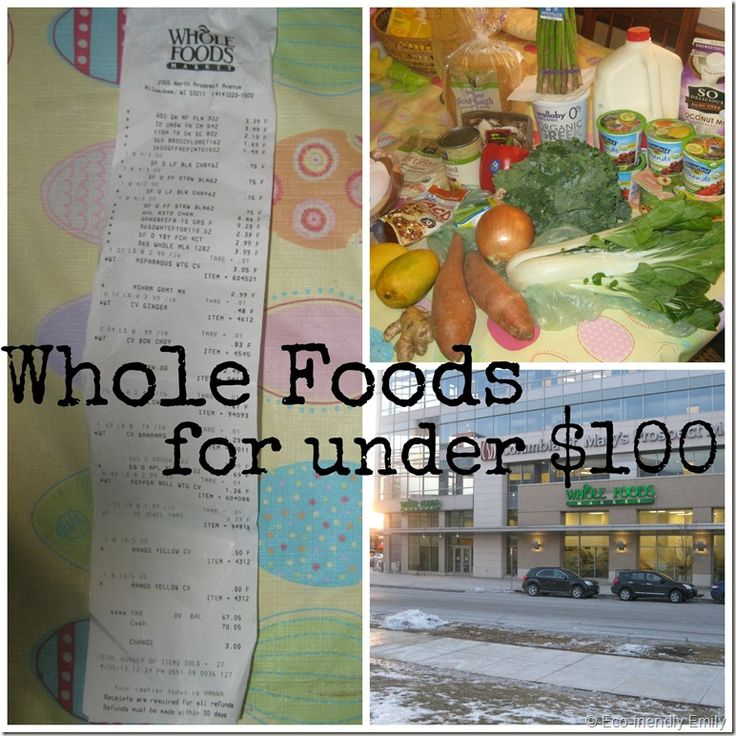 Whole Food Shopping on a Budget