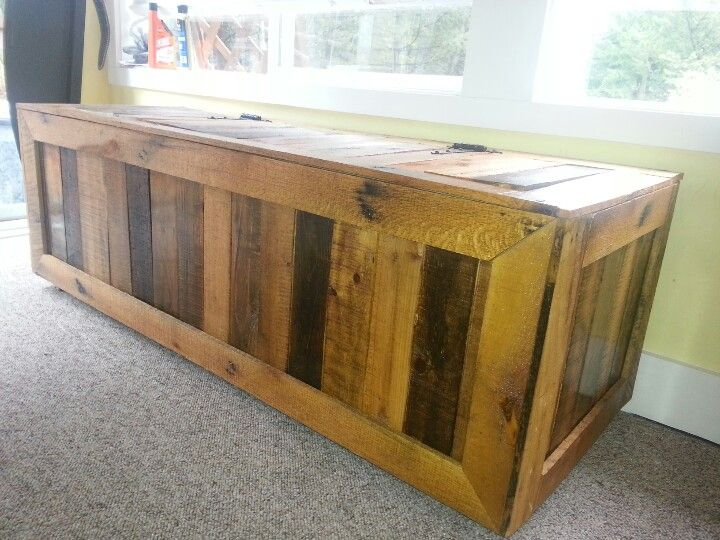 Pallet furniture chest.  Made this out of pallets