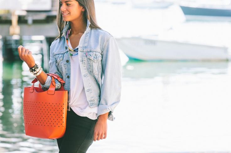 Lola & Syd Orange Shopper Bag