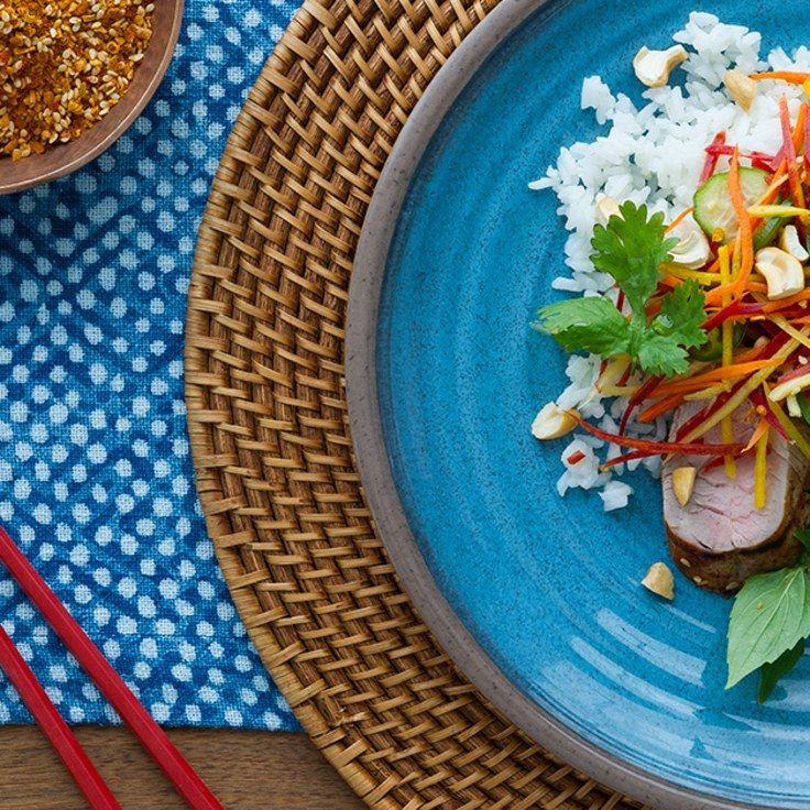 Thai Pork Tenderloinwith Pickled Vegetable Salad