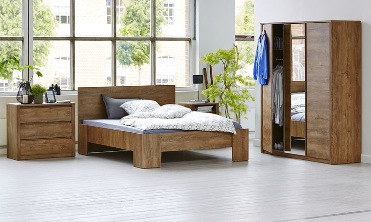 Dormitorul VEDDE din melamina de stejar salbatic. Descopera toata gama VEDDE pe blogul JYSK! #ideidormitor #mobiladormitor #dormitor #interiordesign