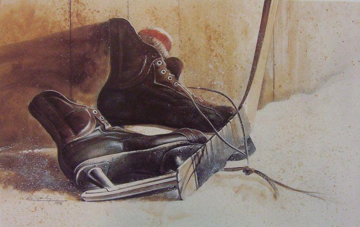 Ken Danby Study Of Skates