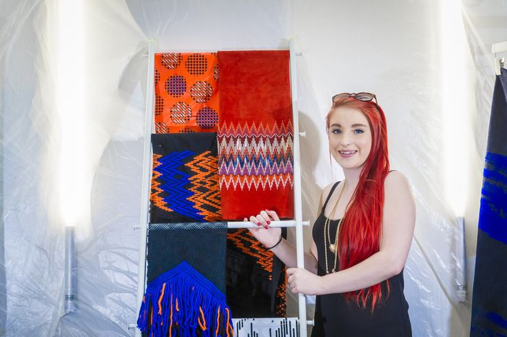 Kirsty Orford shows off her designs in London.