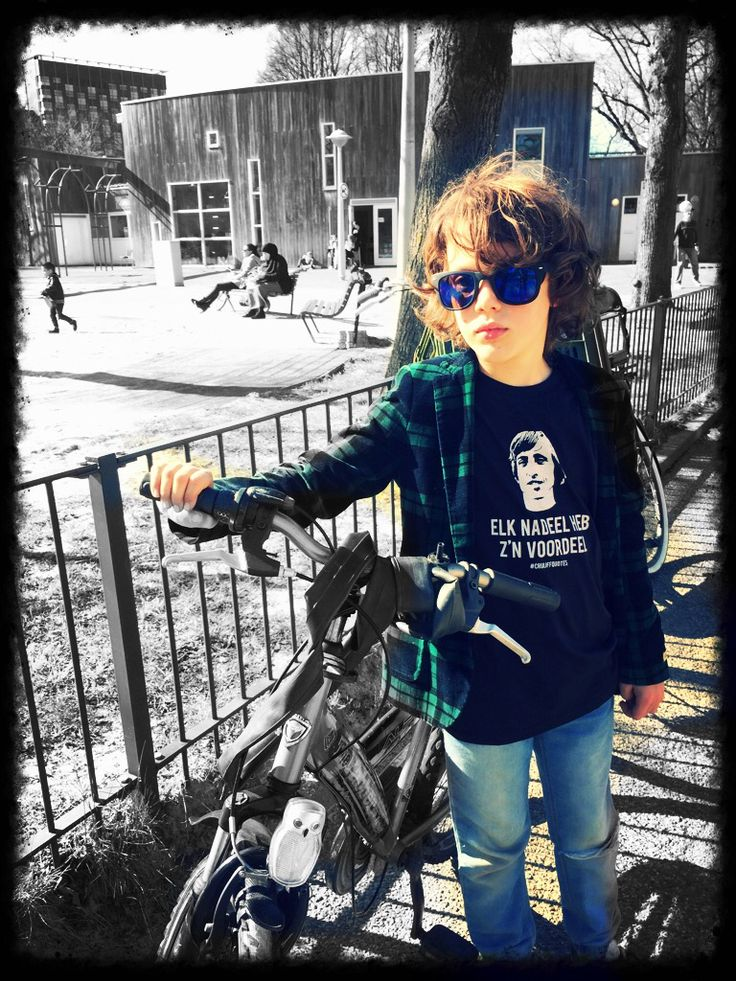 Cool kid with #Cruijffquotes shirt from Amsterdam