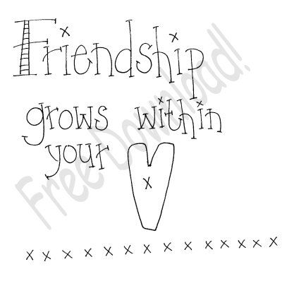 Free Goods - Free Patterns - Samplers and Sayings - Free Friendship Saying (Powered by CubeCart)