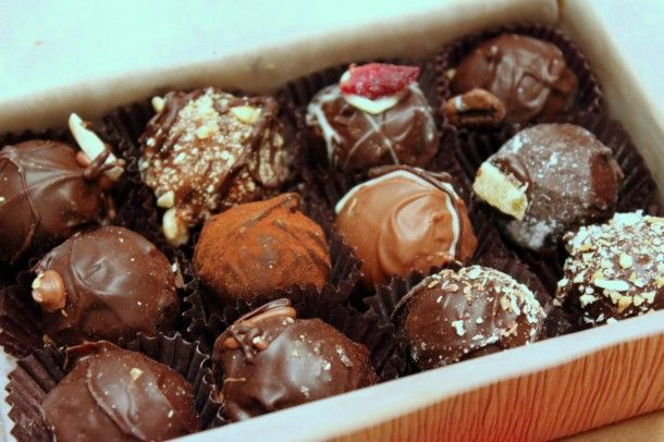 """Truffle Treasures. 769 Bank St. """"All the chocolate you can eat and all made by hand! Every truffle is hand-piped, hand-dipped and decorated. You won't be able to resist."""" Google Image Result for http://media5.starkinsider.com/wordpress/wp-content/uploads/2012/01/Truffle-Treasures-Ottawa-610x406.jpg"""